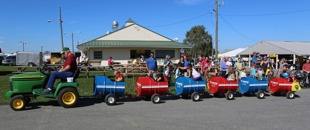 Barrel train for kids